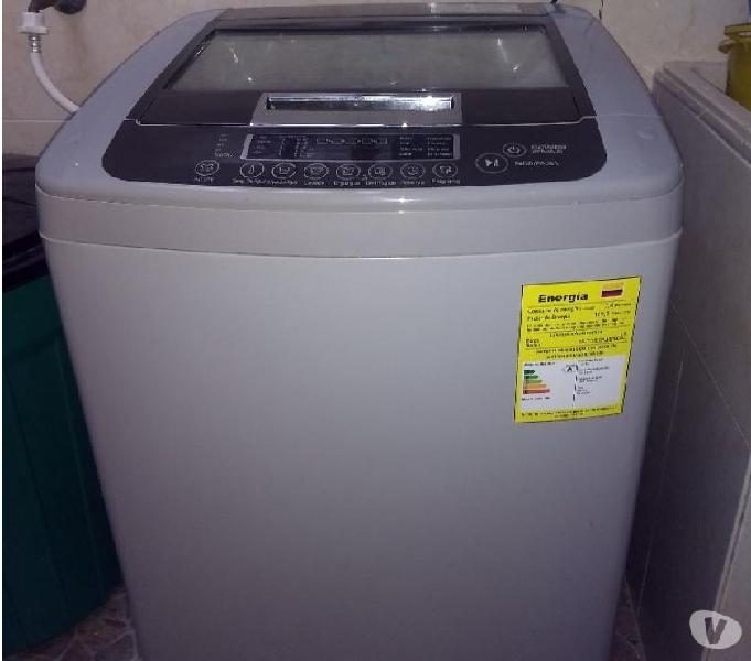 Lavadora lg automatica inverter 12kg 26lbs gris