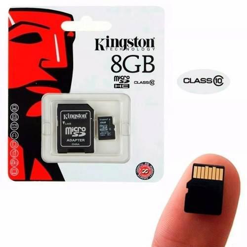 Memoria micro sd 8gb kingston+adaptador entrega inmediata
