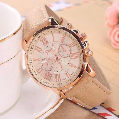 8ac0756b8801 Reloj geneva cuero para mujer - detal y por mayor