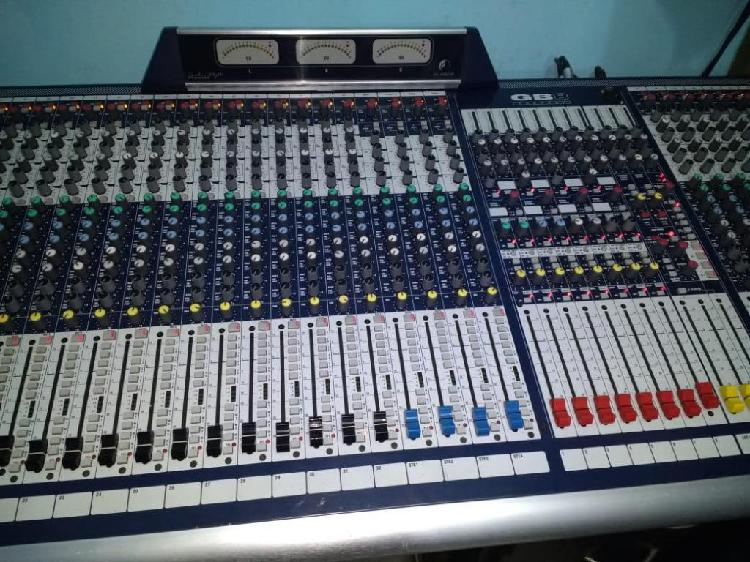Consola análoga soundcraft gb 8 de 48 canales, 8 buses de