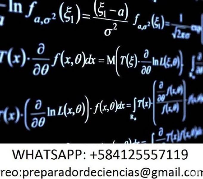 Asesorías y tareas de matemática, física, química e