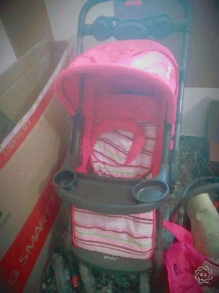 Coche bebe niña ebaby con silla para carro