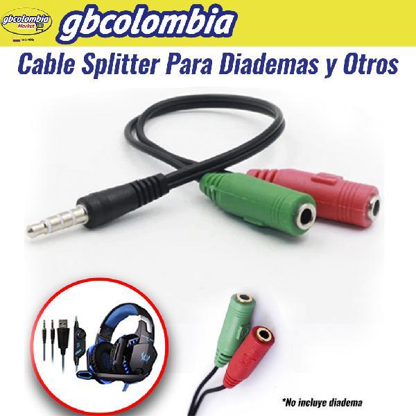 Cable splitter cable adaptador diadema audifono microfono
