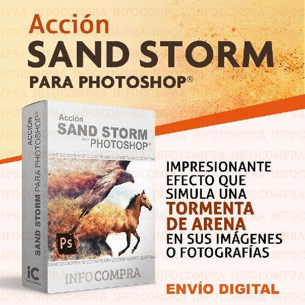 Efecto sandstorm para photoshop. ¡agrega efectos especiales