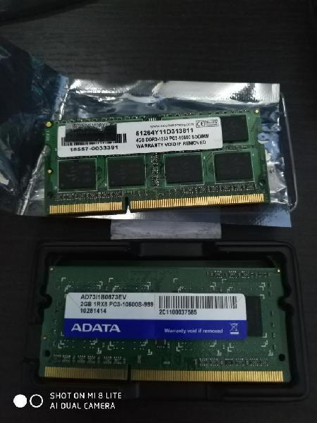 Memoria ram ddr3 portátil 4gb y 2gb