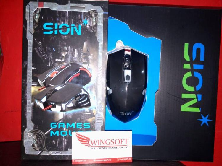Mouse tipo gamer marca sion