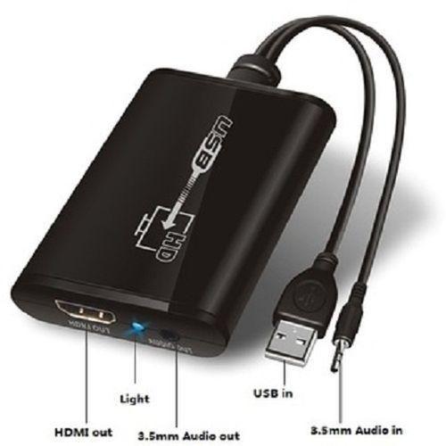 Nuevo usb 2.0 a hdmi 1080p hd video adaptador convertidor