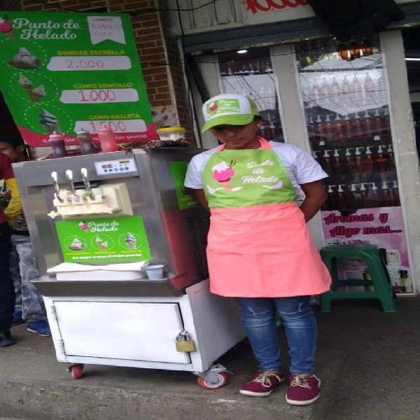 Gangazo maquina de helado y montaje