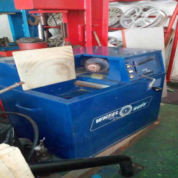 Máquina original para bruñir rines de acero, usada