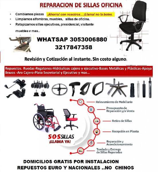 Repuestos sillas oficina 【 CHOLLOS Octubre 】 | Clasf