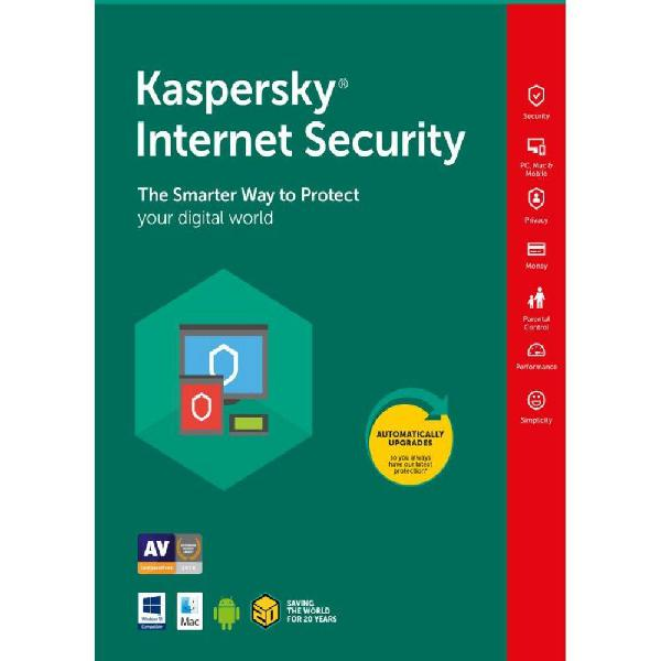 Antivirus kaspersky internet security 3 pc 1 año renovacion