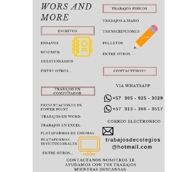Wors and more - se hacen trabajos