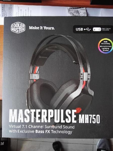 Cooler master pulse mh750 diadema gamer fx bass