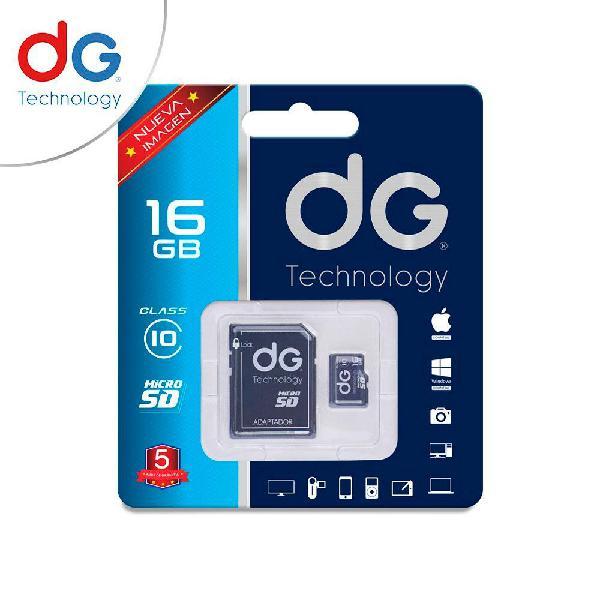 Memoria micro sd 16gb dg original clase 10 garantizados