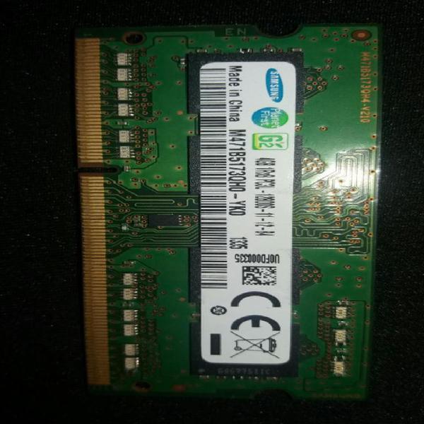 Memoria ram ddr3 4gb portátil 12800 pc3 samsung