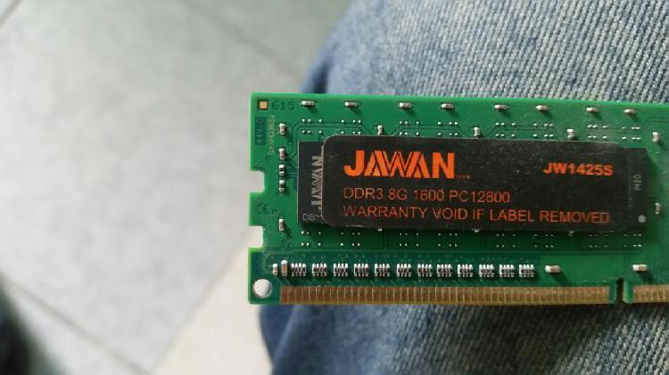 Memoria ram ddr3 de 8 gigas nus de 1600
