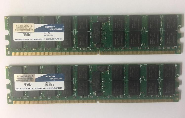 Memoria ram para servidor 4gb x 2 ddr2 1.600 mhz ecc