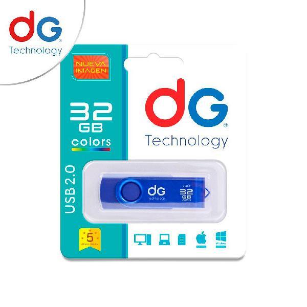 Memoria usb 32gb dg original colores surtidos garantizados