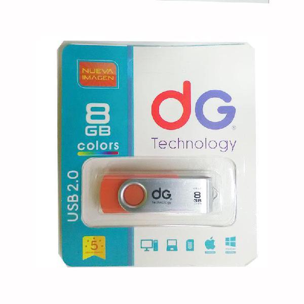 Memoria usb 8gb dg original colores surtidos garantizados