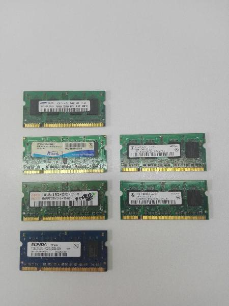 Memorias ram 1 gb dr2 para portátil