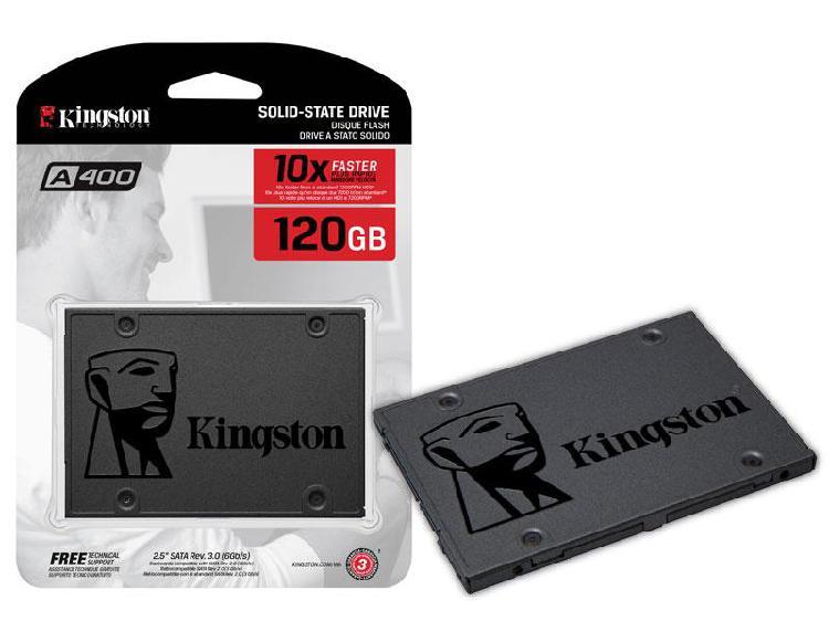 Unidad disco estado solido a400 – 120gb   kingston