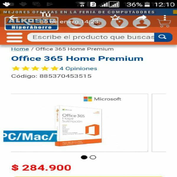 Vendo office original 365 home premium