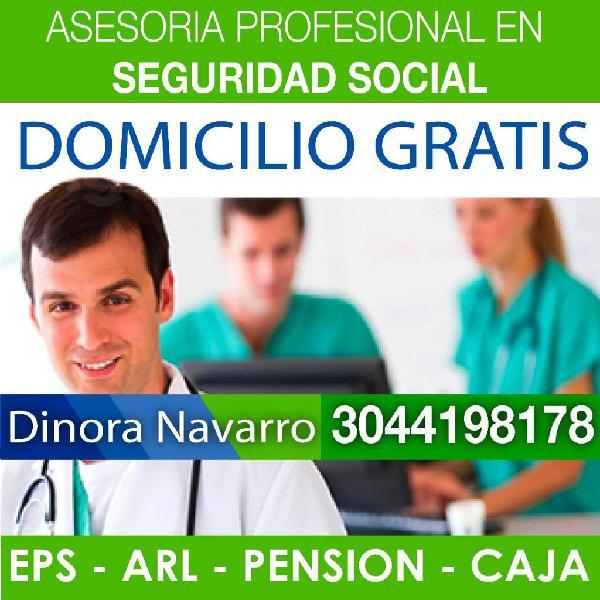 Afiliamos! eps, pension, arl, caja *seguridad social,