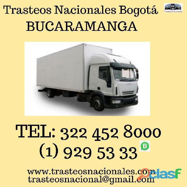 Trasteos nacionales de bogota a bucaramanga