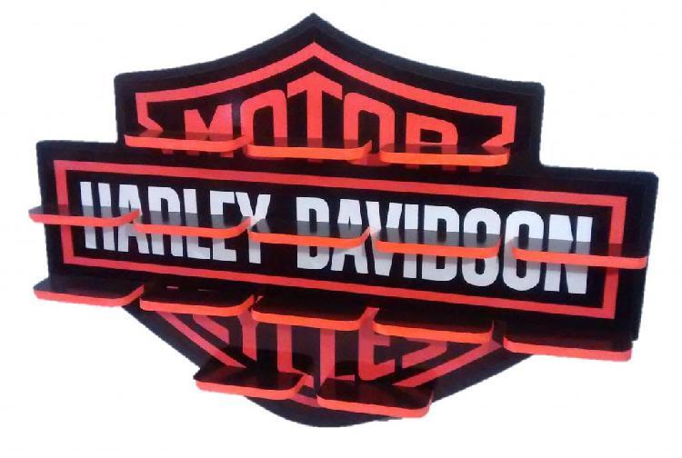 Repisa para colección de motos harley davidson