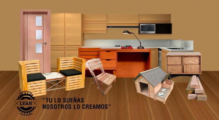 Fabricación en madera de comedores, cama, mesa, sillas,