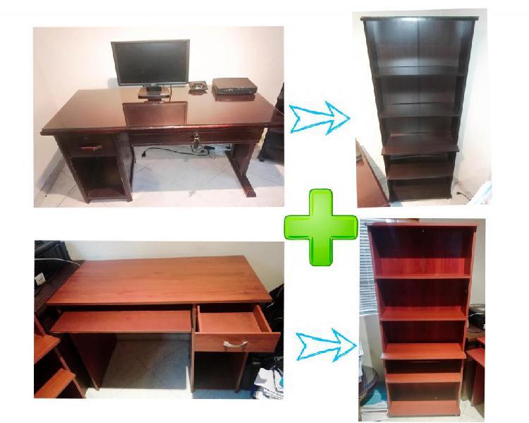 Super combo escritorios y bibliotecas