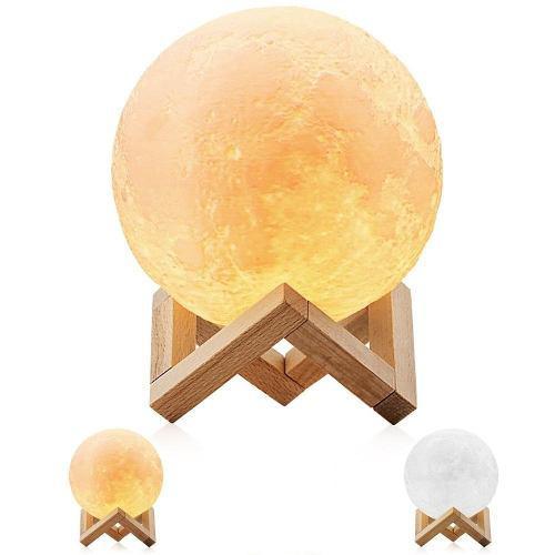 Lampara 3d luna 15cm - moon lamp - entrega inmediata