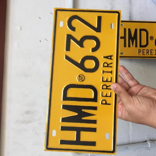 Placas para carro y moto totalmente legales