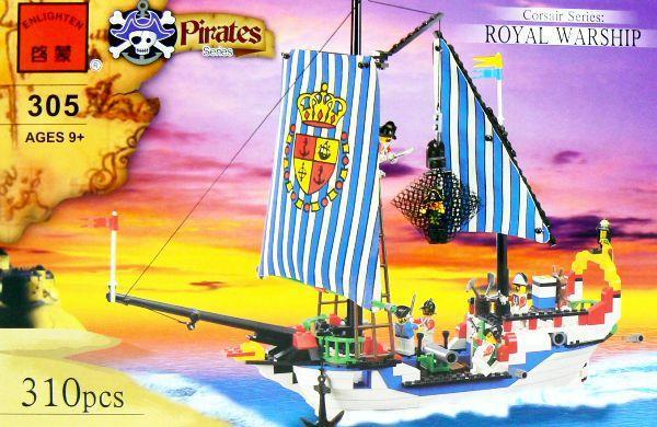 C305 buque de guerra real juguetes para armar tipo lego