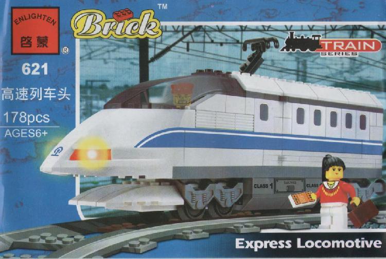 C621 tren locomotora expreso juguetes para armar tipo lego
