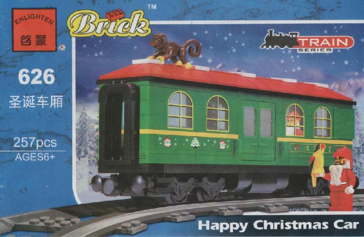 C626 tren vagón de carga de navidad juguetes para armar