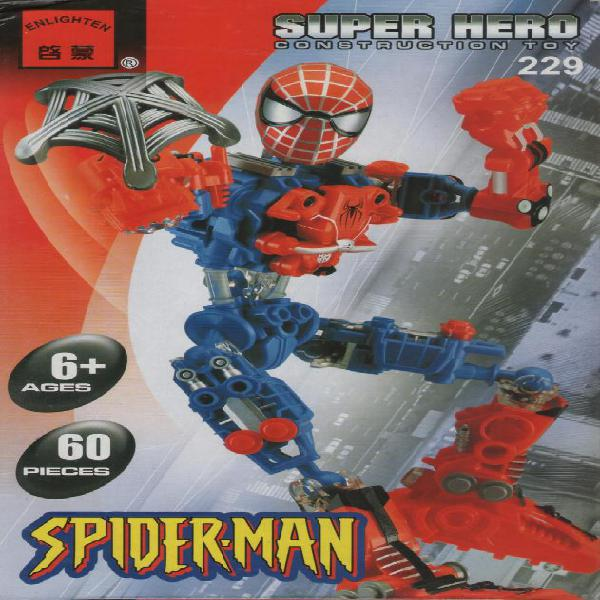 Hombre araña c229 spiderman juguetes para armar tipo lego