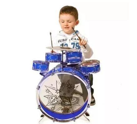 Set bateria musical niña 5 tambores juguete oferta regalo
