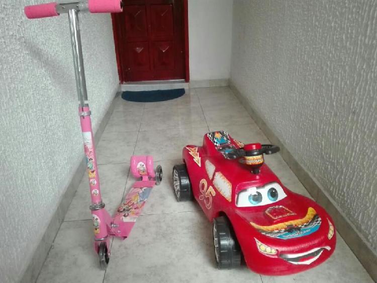 Vendo patineta princesita y carro cars