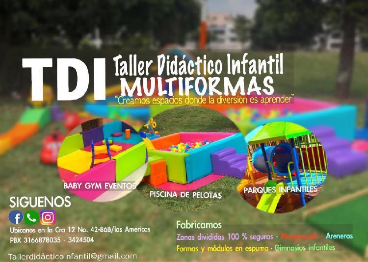 Juegos y parques infantiles, tdi didacticos gimnasios en
