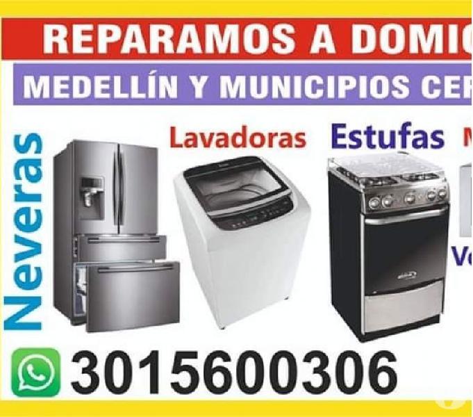 Reparaciones de lavadoras y neveras a domicilio