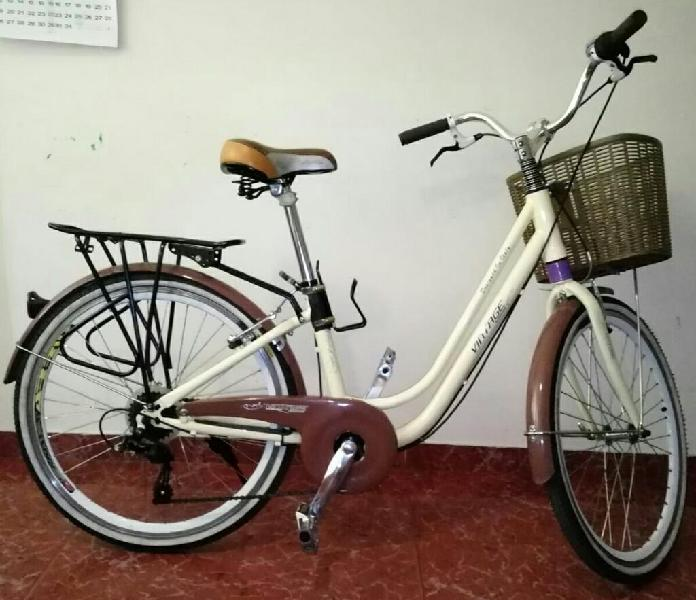 Bicicleta playera vintage r26 importada.