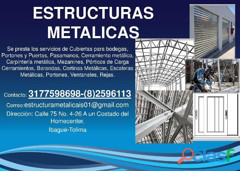 Estructuras metálicas y de soldadura garantizadas
