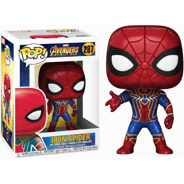 Funko pop iron spider 287 spiderman avengers infinity war