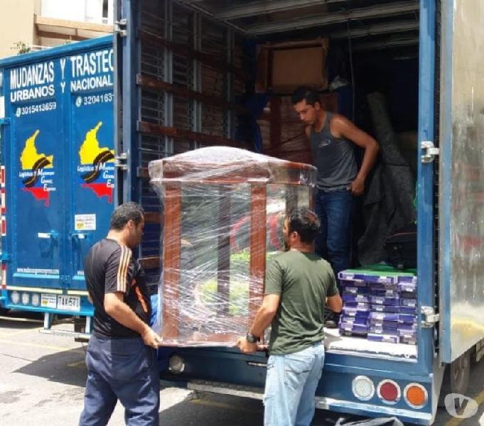 Transporte de mudanzas, trasteos y encomiendas por colombia.