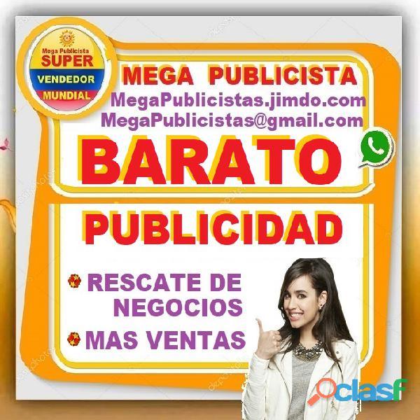 ⭐ barato, mega publicidad, agencia, publicista, posicionamiento, vendedor, mercadeo, marketing, pagi