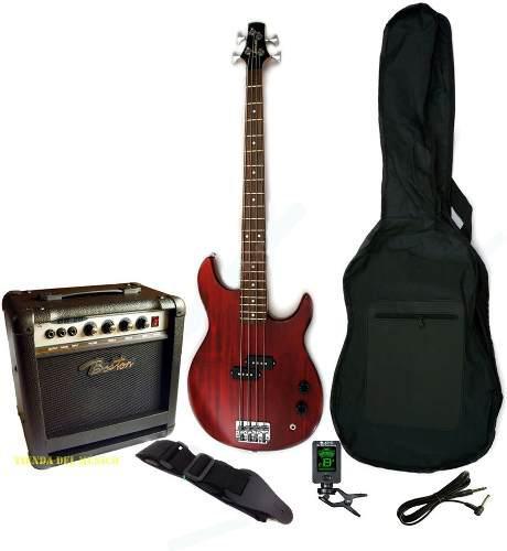 Kit bajo vorson bb200 4 cuerdas amplificador 20w accesorios