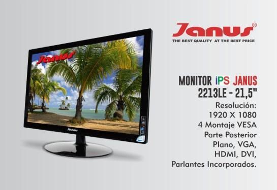 Monitor de 21.5 led nuevo janus hdmi y vga
