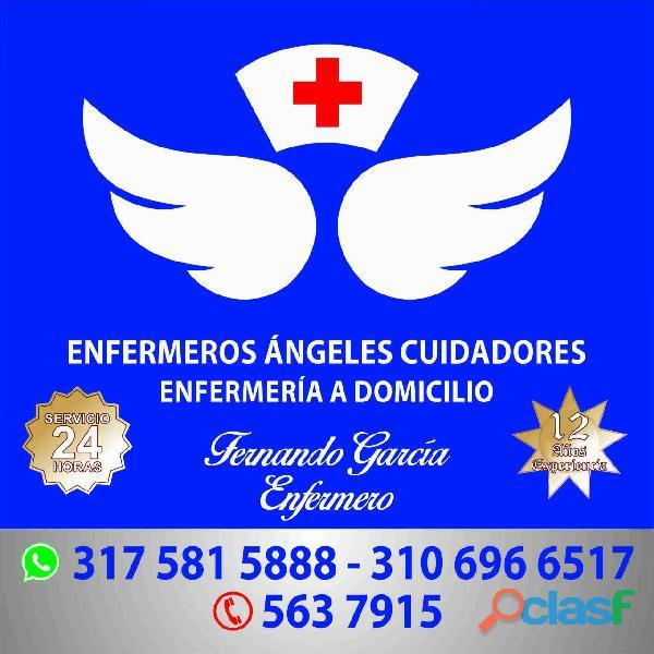 Enfermería domicilio bogota   enfermeros ángeles cuidadores