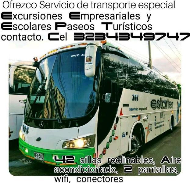 Alquiler bus servicio especial turismo
